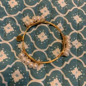Bourbon and Boweties Gold Pearl Bangle